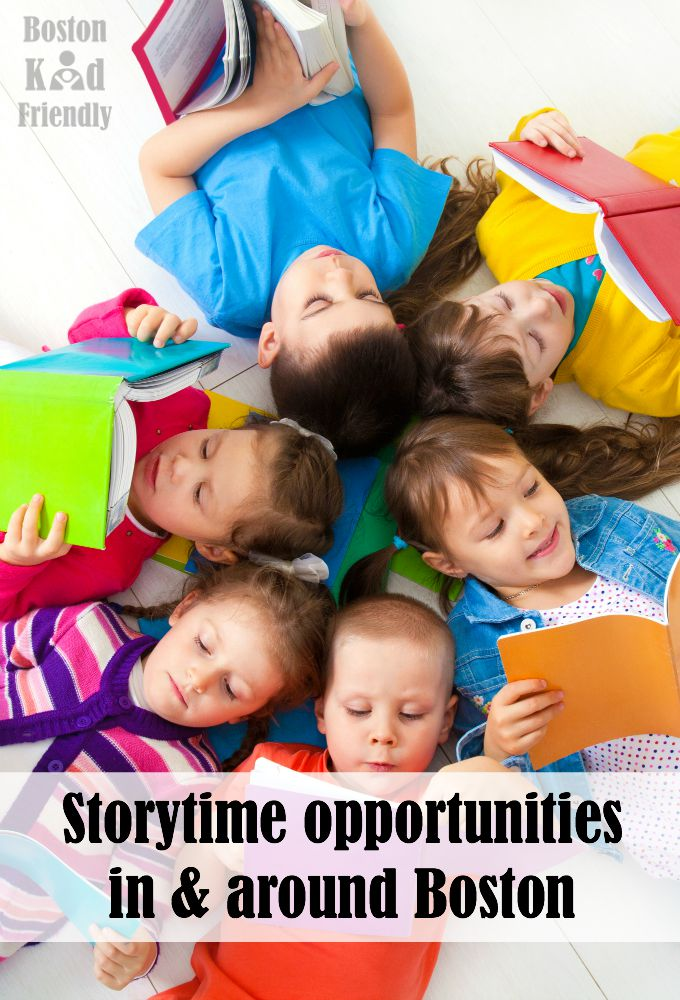Boston storytime and story hour events for kids