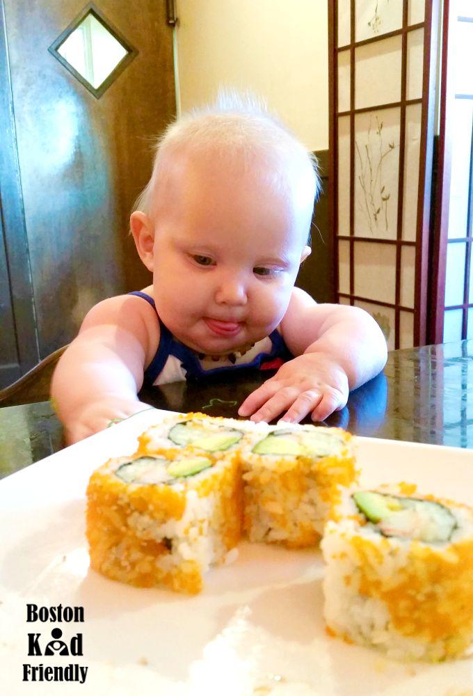 Tasty California roll with flying fish eggs at Sakura Winchester