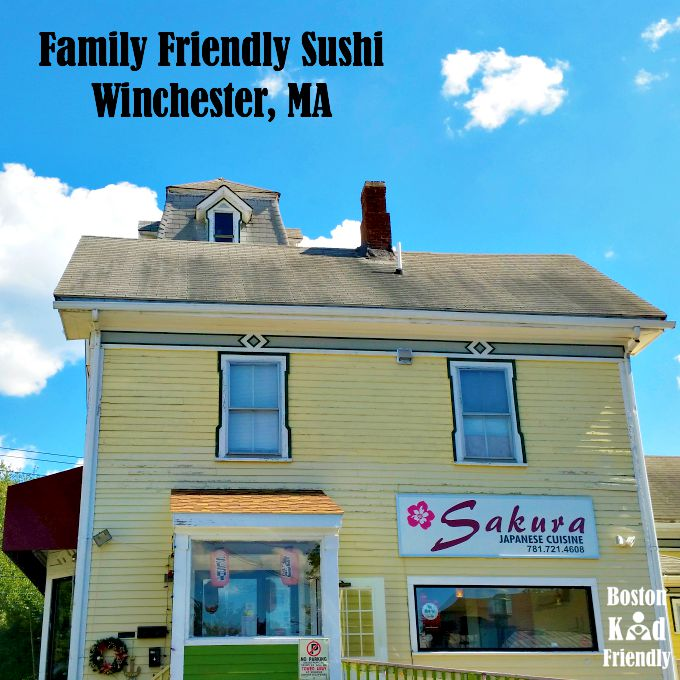 Family friendly inexpensive sushi at Sakura Winchester, MA