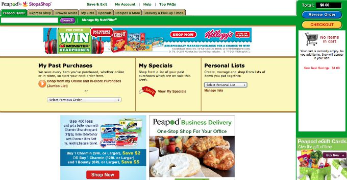 How to create shopping lists in Peapod by Stop and Shop