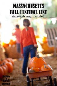 Massachusetts fall festivals list with a state map of them. Includes hayrides, corn mazes, pumpkin patches, and more.