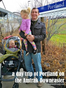 Taking kids on a day trip to Portland Maine on the Amtrak Downeaster