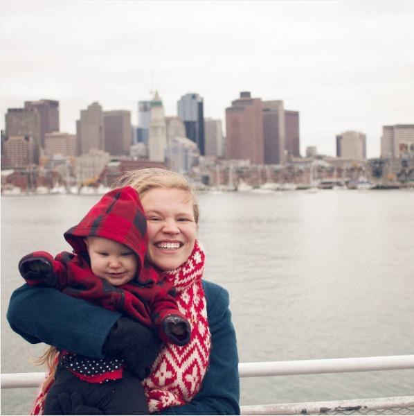 Boston Harbor cruise as a family