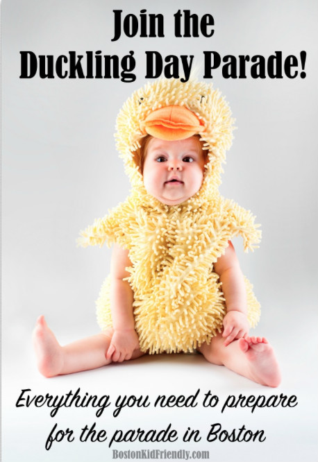 Everything you need to know about the duckling day parade and event, but also where to buy duck costumes for kids, babies, and adults.