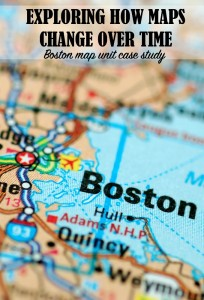 A Boston map case study to explore with kids how maps change over time and in what ways.